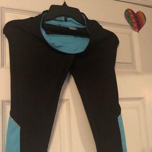 Moret ultra used XS light blue and black leggings